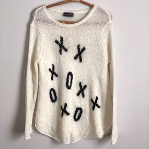 Wooden Ships XOXO Knit Sweater Size Small